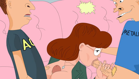 Daria sucking Beavis and Butthead